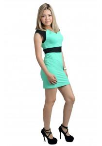ViQ Office Wrap Dress (Light Green)