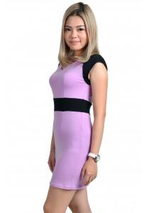 ViQ Office Wrap Dress (Light Purple)