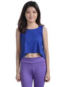 ViQ Loose Fit Cropped Singlet ( Dark Blue)
