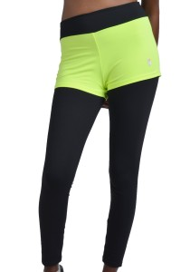 ViQ Two Piece Style Sports Legging (Highlight Green)