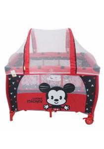 Disney Cuties Baby Mickey Playpen with Mosquite Net (Red)