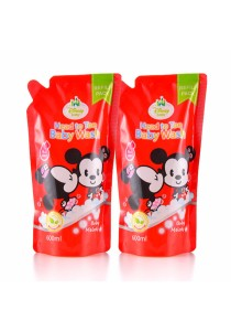 Twin Pack Head to Toe Baby Wash 600ml Refill Pack