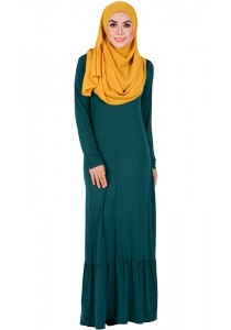 MyTrend BEA Zip-Front Jersey Dress (Emerald)
