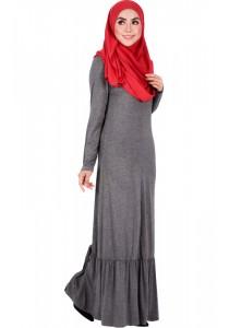 MyTrend BEA Zip-Front Jersey Dress (Dark Grey)