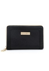 Unisa Perforated Facile Edge Medium Ladies Zip-Up Clutch Wallet