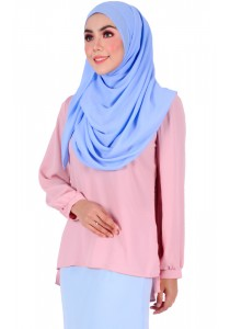 MyTrend Belva Bubble Blouse (Ice Pink)