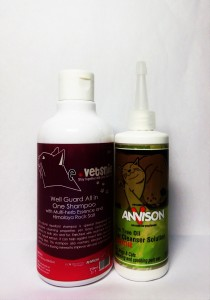 E-Vetsnie Valued Pack 04 (Well Guard Series) - 1 Bottle Well Guard Shampoo 250ml and Tea Tree Oil Ear Cleanser 116ml