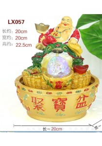 Laughing Buddha Feng Shui Water Fountain - 057
