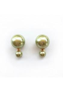 Olive Pearl Bauble Earrings