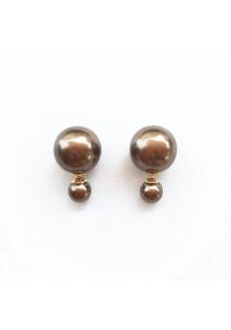 Brown Pearl Bauble Earrings