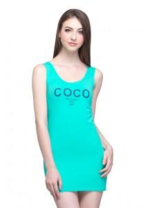 Angel Court Sleeveless Scoop Neck Mini Dress AC38-5313