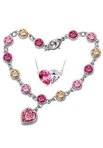 OUXI Titanic Love Necklace Bracelet Set (Rose)