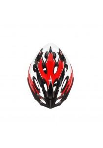 Asogo Adult Bicycle Helmet with Headlock & Visor (White/Red)