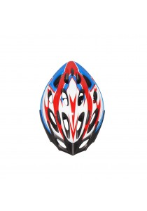 Asogo Adult Bicycle Helmet with Headlock & Visor (White/Blue)
