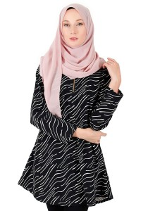 KM Muslimah Printing Design With Zip Free Size