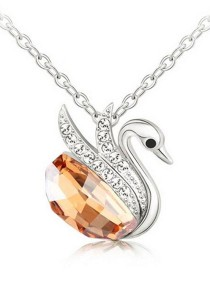 OUXI Beloved Swan Necklace (champagne)