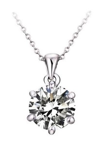 OUXI Diamond Love Necklace
