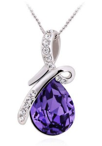 OUXI Butterfly Tears Necklace (Tanzanite)
