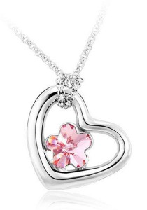OUXI Love Bloom Necklace (Rose)