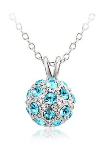 OUXI Happiness Necklace (Aquamarine)
