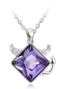 OUXI Taurus Necklace (Tanzanite)