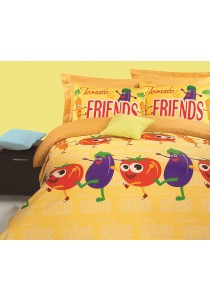 Novelle Ato Comforter Set (Tomato & Friends- Single)