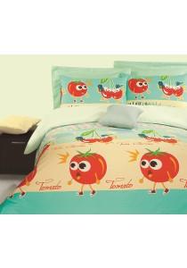 Novelle Ato Comforter Set (Tomato vs Cherries- Single)