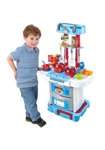 Little Chef Small Gourmet 3-in-1 Kitchen Pretend Play (Blue)