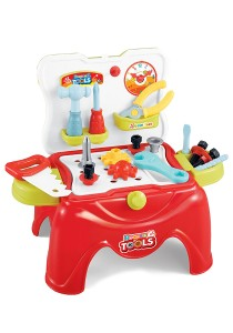 2 IN 1 Bocase Tools Play Set Work Table
