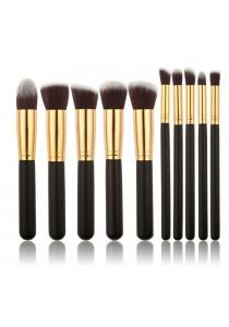 10 Pcs High Quality Professional Cosmetic Makeup Face Brush Set