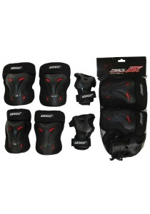 Asogo 6-In-1 Kids Knee Elbow Wrist Protection Set Cycling Skate