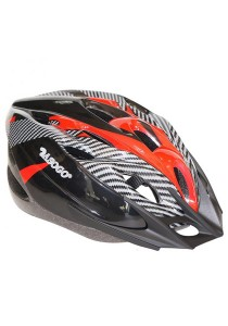 Asogo Adult Bicycle Helmet with Head Lock And Visor (Red)