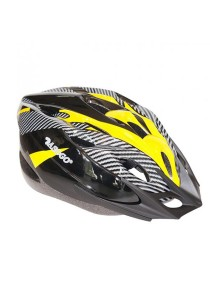 Asogo Adult Bicycle Helmet with Head Lock And Visor (Yellow)