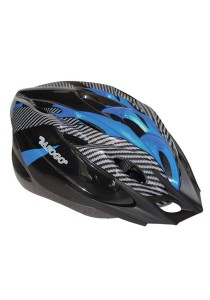 Asogo Adult Bicycle Helmet with Head Lock and Visor (Blue)