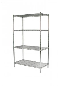 Vetop Storage 4 Tiers Rack Large - Chrome