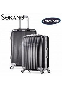 Travel Star Z01 Premium Hard Case Luggage With Aluminium Frame - Black
