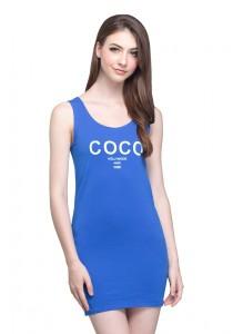 Angel Court Sleeveless Scoop Neck Mini Dress AC38-5315