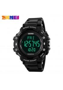 SKMEI 1180 Men's Pedometer Heart Rate Monitor LED Sport Watch