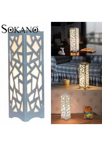 SOKANO Premium European Style Wooden Table Lamp With Adjustable Brightness - Matric Design