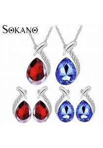 SoKaNo Trendz Australian Crystal N97 Necklace and Earrings set (Free Gift Box)