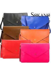 SoKaNo Trendz Vintage Style PU Leather Envelope Clutch