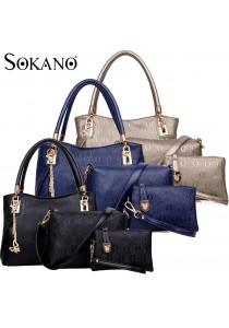 SoKaNo Trendz SKN824 European Designed Luxury Top Handle Tote Bag (Set Of 3)
