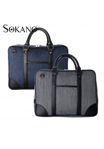 SoKaNo Trendz S002 Premium Canvas Briefcase
