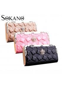 Sokano Trendz Elegant Crown PU Leather Clutch