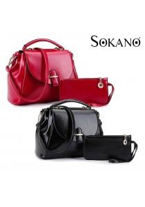 SoKaNo Trendz 8806 Premium PU Leather Crossbody Bag (Set of 2)