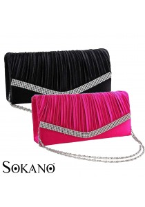 SoKaNo Trendz 139-5 Premium Evening Clutch With Australian Crystal