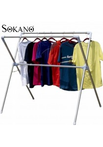 Sokano X Shape Stainless Steel Retractable Cloth Drying and Hanging Rack