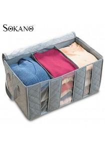 SOKANO 65L Bamboo Charcoal Clothes Storage Bag (Grey)