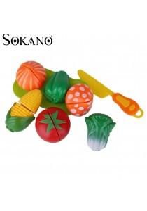 Sokano Fun Fruit & Vegetable Cutting Playset (Random Design)