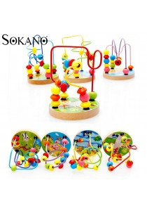 Sokano Mini Around Beads Wire Maze Educational Game- Random Design From 4 Designs